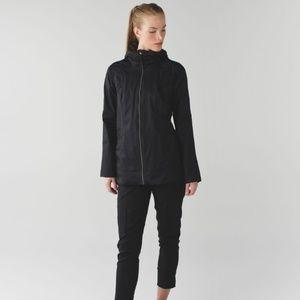Lululemon Fo Drizzle Jacket in Black (green camo)